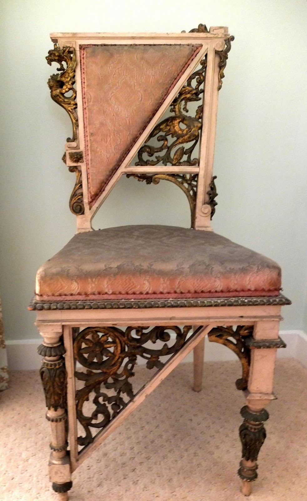 Unusual Chairs - Antique Italian Aesthetic Movement - Antique Style: Unusual Chairs - Antique Italian Aesthetic Movement