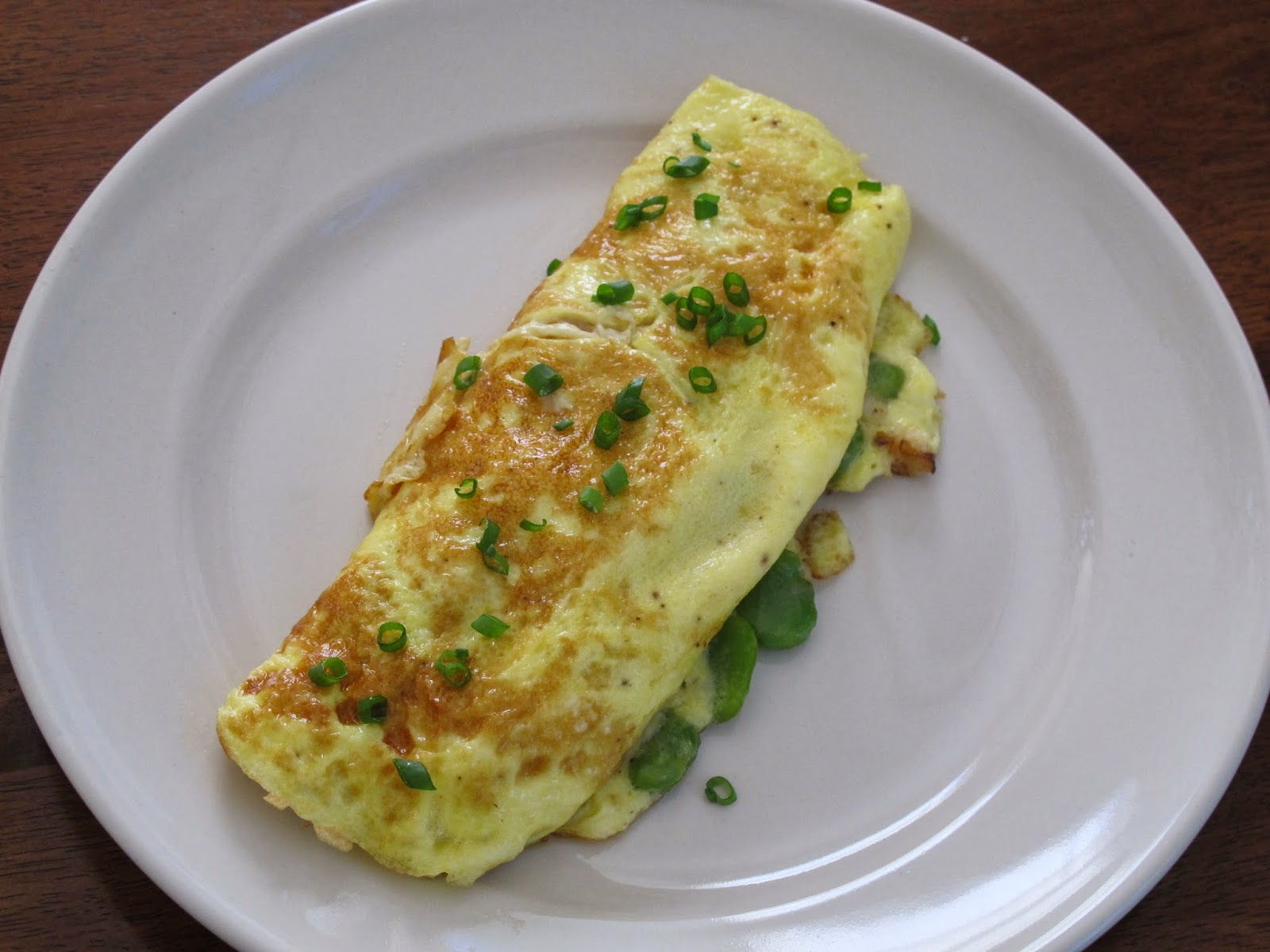Crab and Fava Bean Omelet