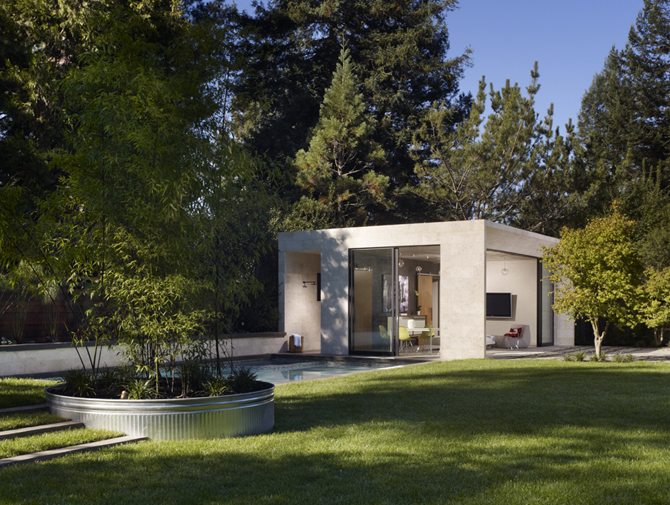 Modern pool house in sonoma modern design by for Construction pool house piscine