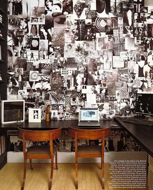 Fashionable interiors black white and wood - Hoo showroom ...