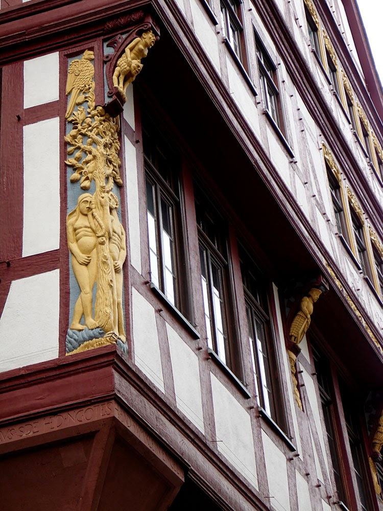 Adam and Eve carving, Frankfurt