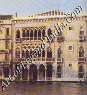 Venice's golden palace, The Ca'd'Oro so-called because its facade was originally covered with gold was completed in 1436, when Venetian architecture was still Gothic in style.