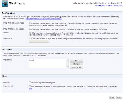how to change blocked websites chrome