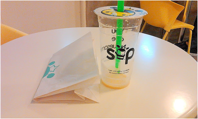 Sip Store Farmer`s, Cubao Branch - Honeycomb Waffle and Honey Milk Tea (The Graceful Mist Photo)