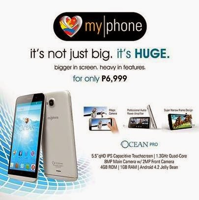 MyPhone Ocean Pro, 5.5-inch Quad Core Phablet For Php6,999