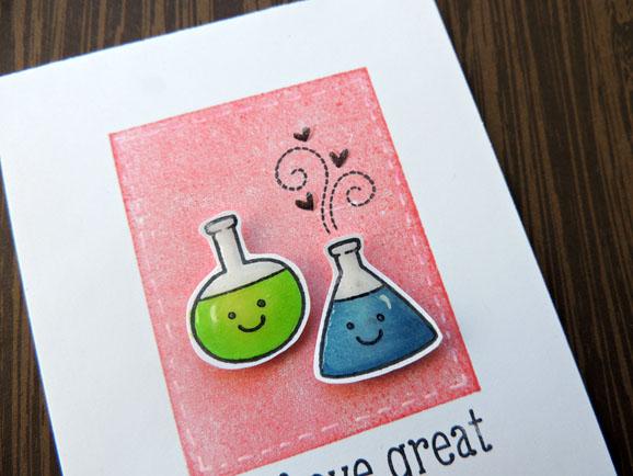 Lawn Fawn Chemistry Card