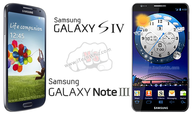 Samsung Galaxy Note 3 vs Galaxy S4 Specs Comparison