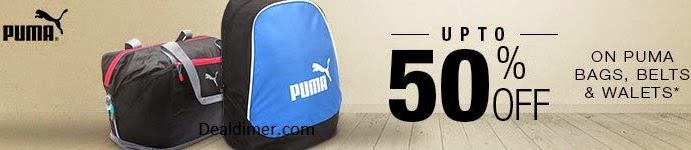 Puma Bags, Wallets, Belts & Accessories 50% off