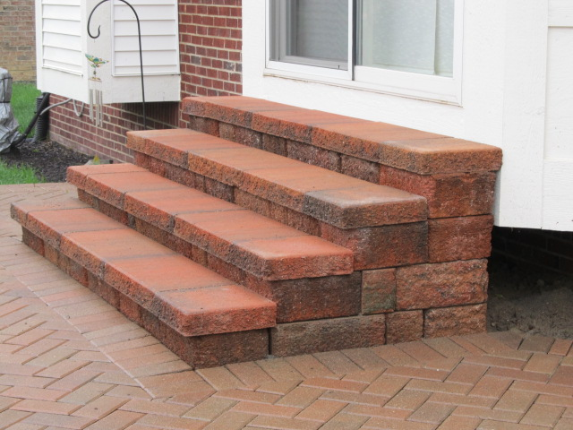 Raised Paver Patio Steps Needed To Be Reconstructed To Be Functional U0026 Safe  To Use