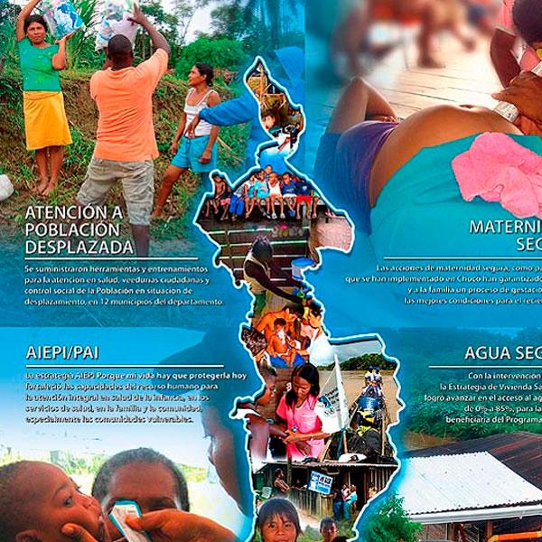 Diseño gráfico. Pendón Organización Panamericana de la Salud