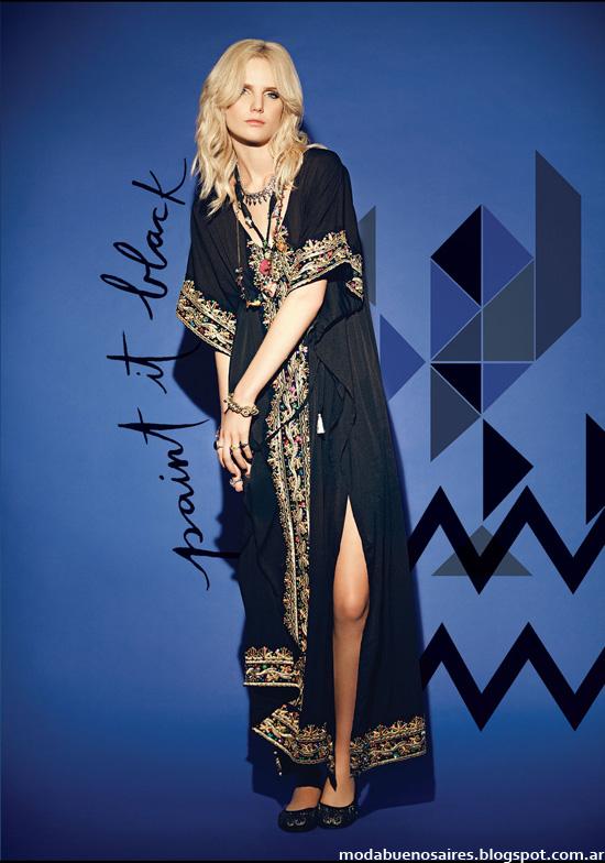Moda vestidos largos otoño invierno 2014 Rapsodia.