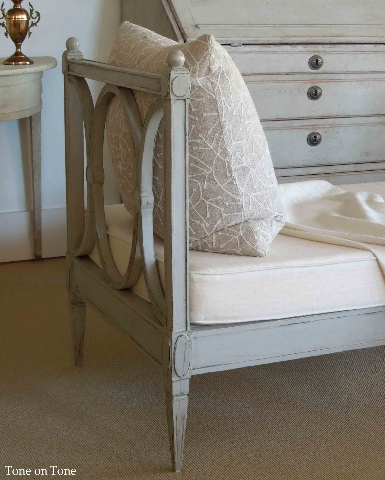 And this small Gustavian original painted daybed is from our latest  title=