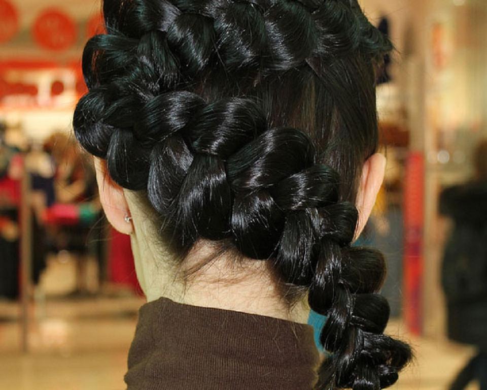 Trenzas para cabello largo en capas