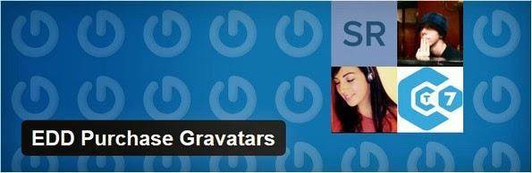 EDD purchase gravatars plugin