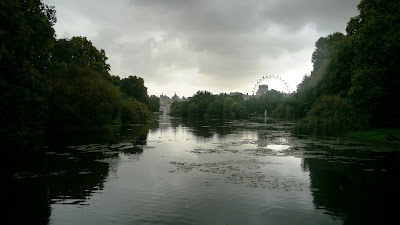 Pond at St James's Park in London