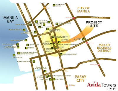 Avida Towers   Prime Taft Location Map