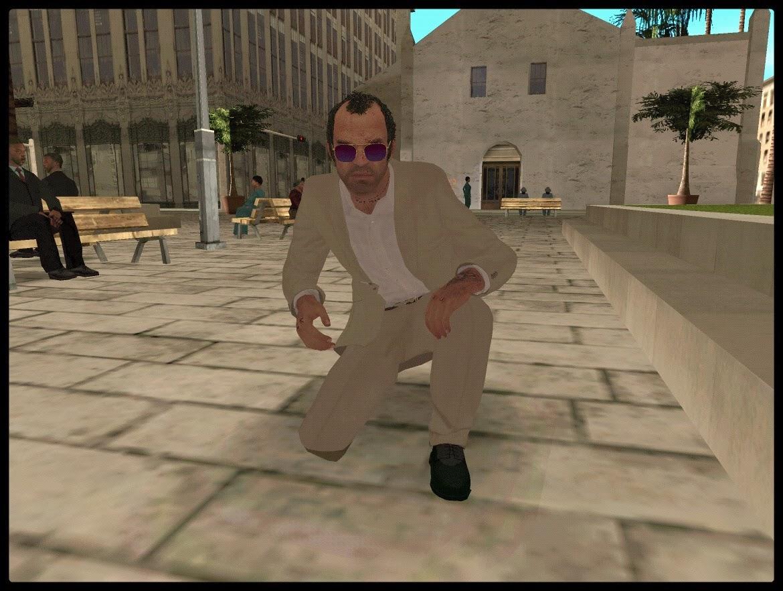 GTA SA - Skin Do Trevor Com Roupa Da Policia Do GTA V