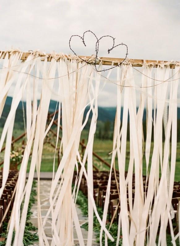 corazones de alambre boda rústica