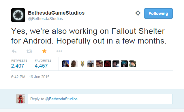 Fallout Shelter is Coming to Android on August 13th!