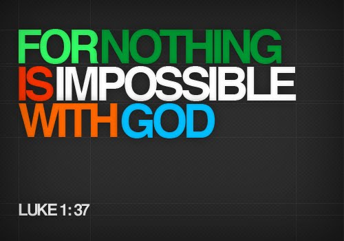 nothing is impossible with god bible verse free