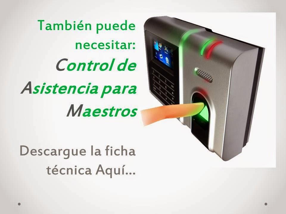 Reloj Checador para Maestros...