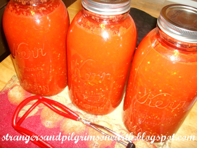pilgrims on earth canning pureed tomatoes for pizza sauces and soups