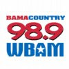 listen to country music through Bama Country 98.9 radio station