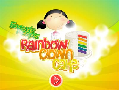 Games Masak Membuat Rainbow Cake