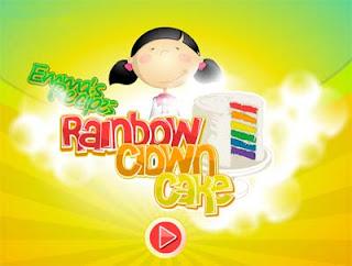 Games Masak Membuat Rainbow Cake