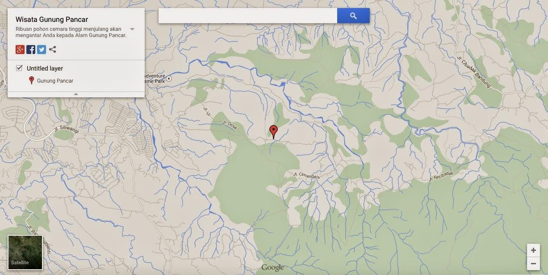 Hutan Pinus Gunung Pancar – Gmaps Satellite