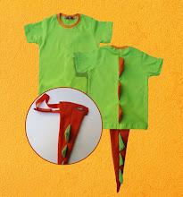 Camiseta Dinossauro + Rabo