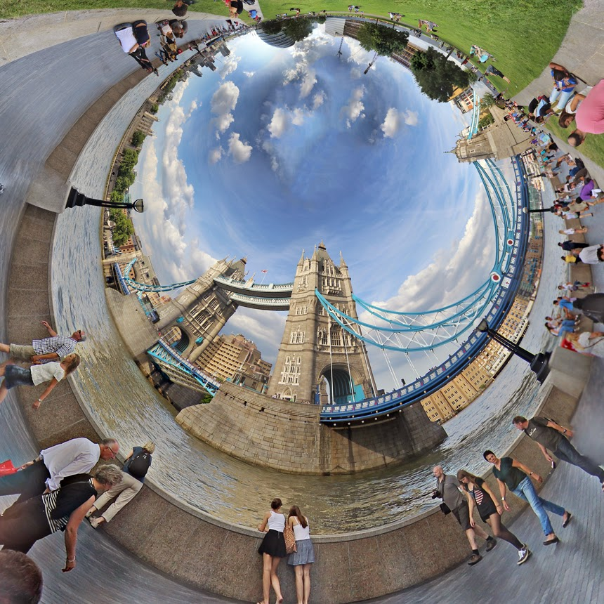 stereographic london igor fain tower bridge little planet
