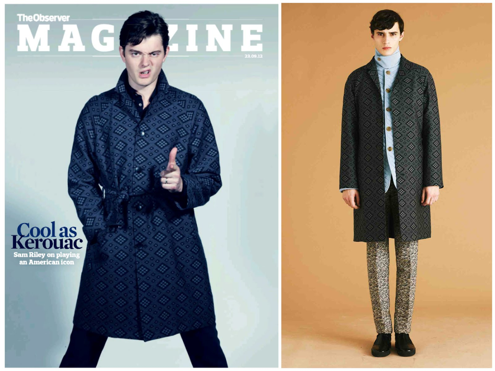 00O00 London Menswear Blog Sam Riley Observer Magazine cover Jonathan Saunders
