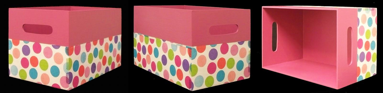 Circulo encantado cajas decoradas for Caja almacenaje infantil
