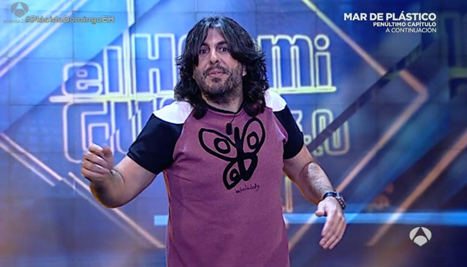 JJ Vaquero en El Hormiguero de A3 con nuestra camiseta elaborada en España con algodón BIO certificado
