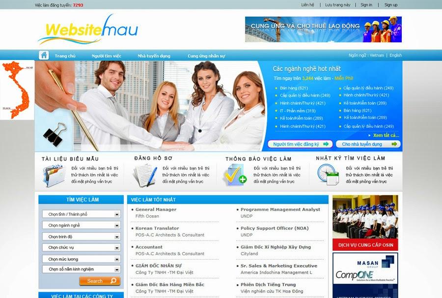 thiết kế website tìm việc dạng 2