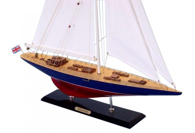 America's Cup Sailboat Endeavour Model