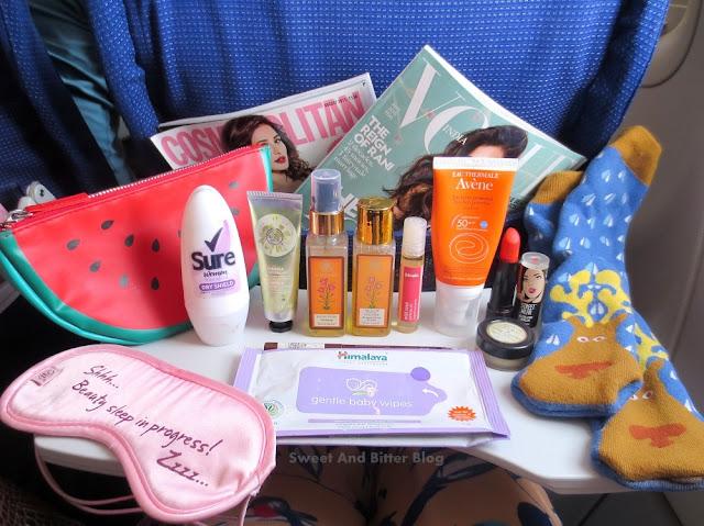 My In-Flight Essentials || Skincare, Makeup, Etc
