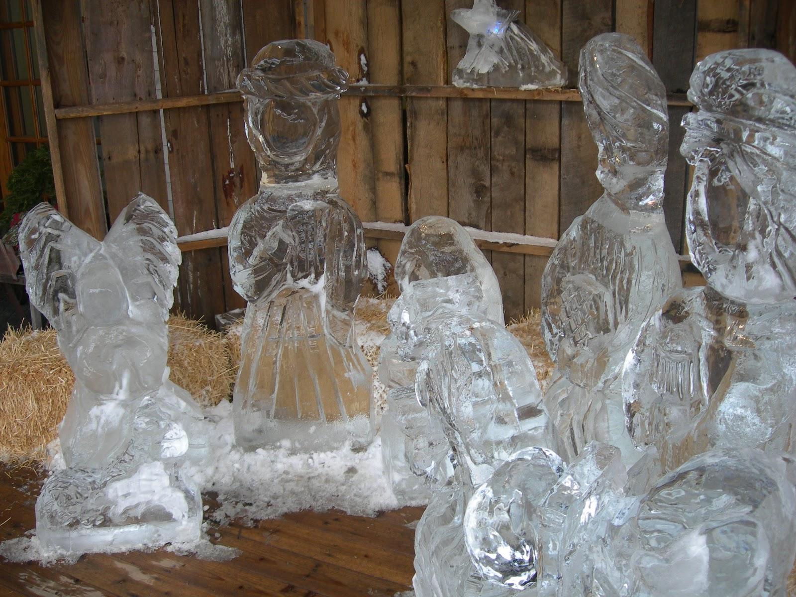 Indiana jasper county tefft - Frozen Nativity Scene