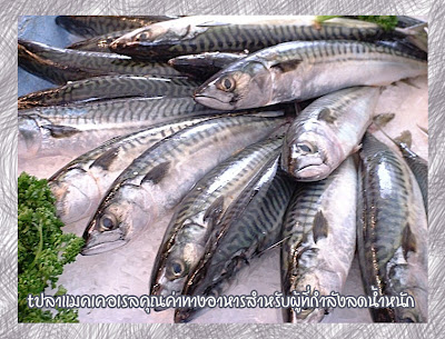 ปลาแมคเคอเรลคุณค่าทางอาหารสำหรับผู้ที่กำลังลดน้ำหนัก