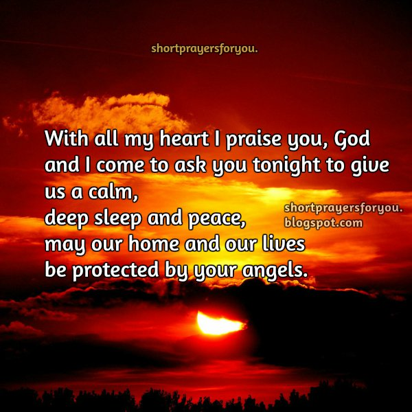 short prayer for a good sleep, rest at night and pray for protection, free christian prayer image