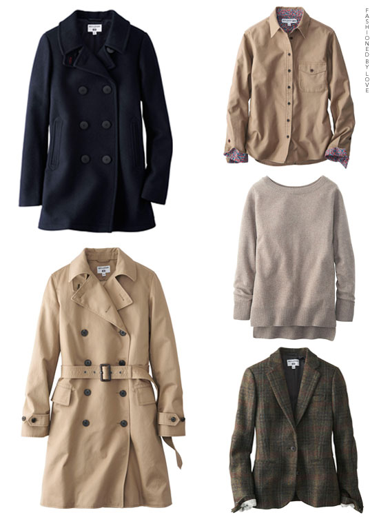 Ines de la Fressange and Uniqlo collaboration, second collection, Fall/Winter 2014