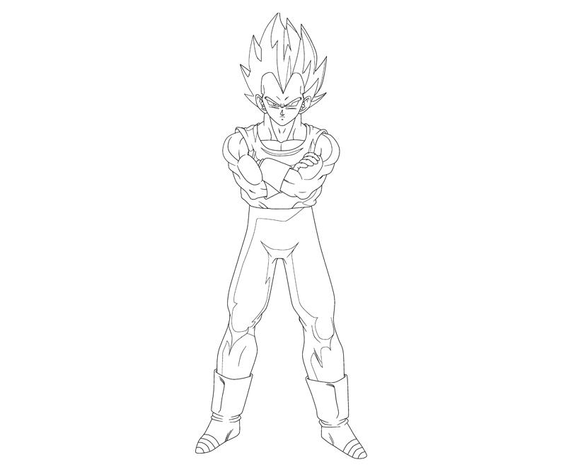 Vegeta 2 coloring crafty teenager for Vegeta coloring page