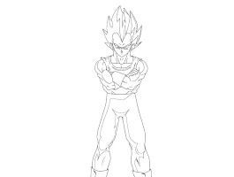 Goku And Vegeta Fusion Coloring Pages