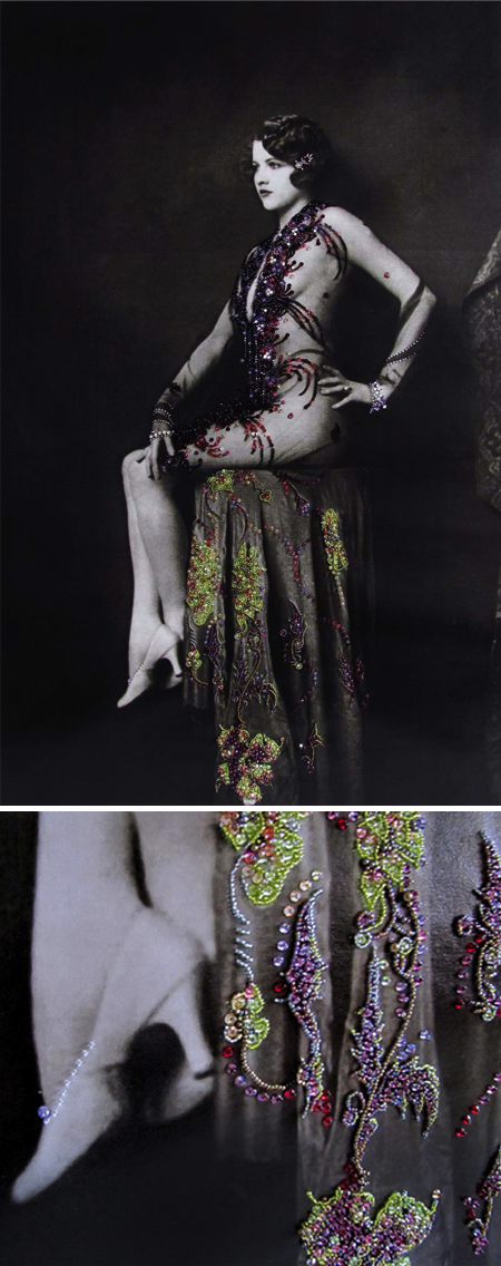 1920s photographs beaded by modern day beadwork artist Binka Rigava