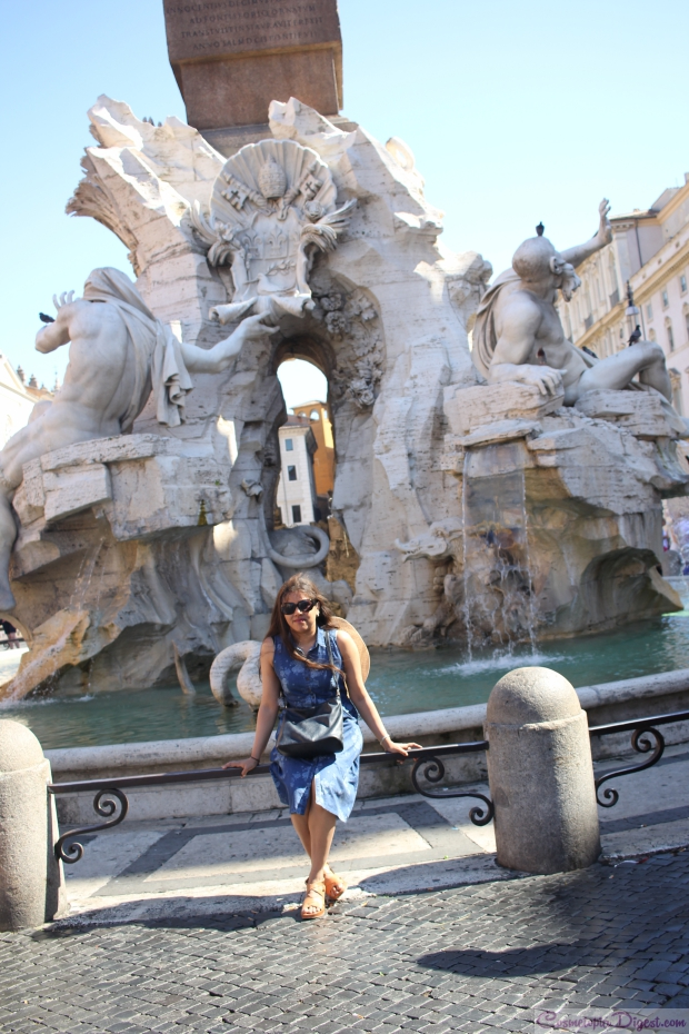 Bernini's Fontana dei Quattro Fiumi in the Piazza Navona