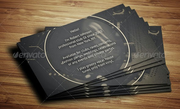 Best DJ Business Cards PSD Templates Bestgraphicdesign - Dj business card template