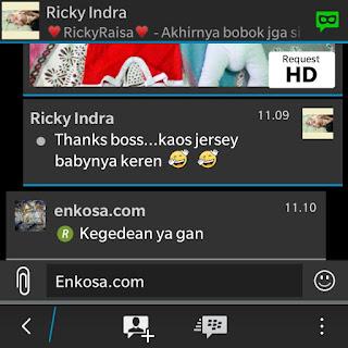 gambar screenshot testimoni di enkosa sport toko online terpercaya Testimoni Ricky Indra di enkosa sport toko online terpercaya lokasi di jakarta pasar tanah abang
