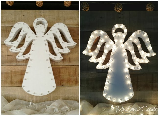 MyLove2Create, Foam Core and Poster Board Marquee Angel