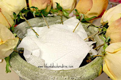 roses in urn tutorial